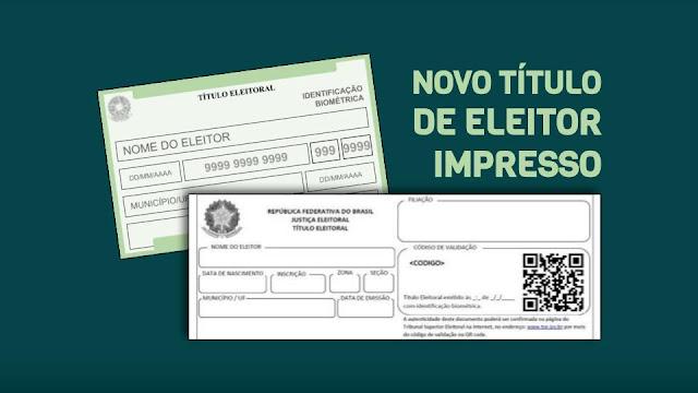 NOVO TÍTULO DE ELEITOR IMPRESSO