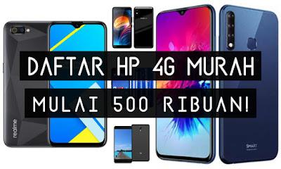 Daftar HP Android 4G Murah Harga Mulai 500 Ribuan Terbaru 2020