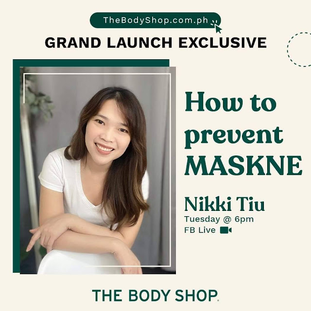 Join Me!  The Body Shop's FB Live: How to Prevent MaskNe