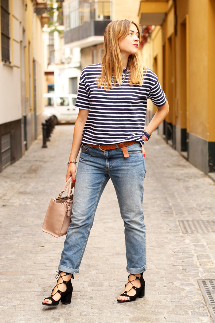 jeans and stripes