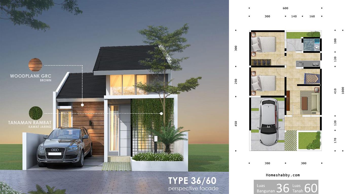 Desain Dan Denah Rumah Terbaru Type 36 Luas Tanah 60 M2 Lengkap Dengan Ukurannya Homeshabby Com Design Home Plans Home Decorating And Interior Design