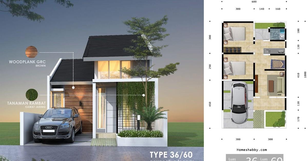Desain dan Denah Rumah Terbaru Type 36 Luas Tanah 60 M2 ...