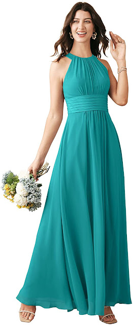 Cheap Turquoise Chiffon Bridesmaid Dresses