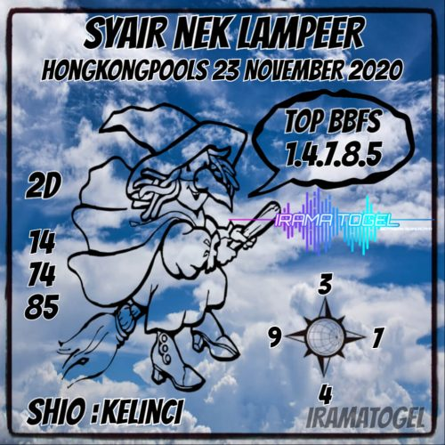 Syair HK Senin 23 November 2020 -