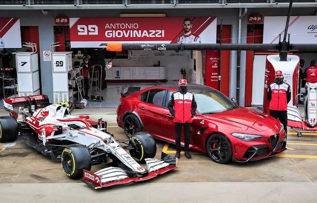 Kimi Räikkönen και Antonio Giovinazzi Imola