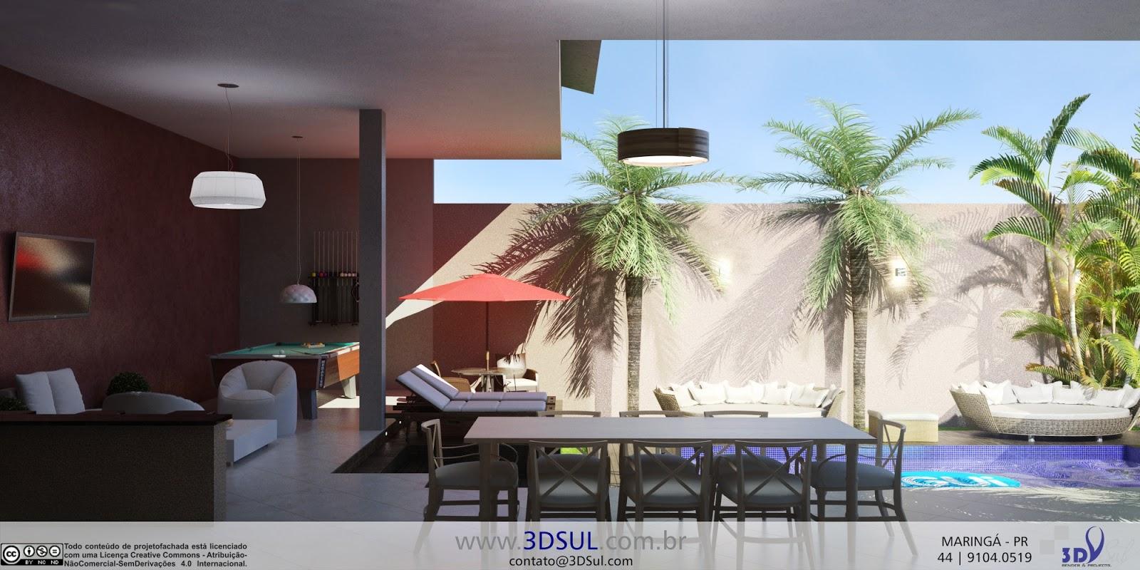 3dsul maquete eletr nica 3d projeto ed cula moderna for Casa moderna 2015 orari