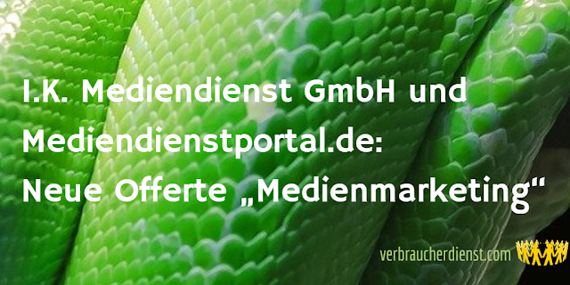 "Titel: Update Mediendienstportal.de – Neue Offerte ""Medienmarketing"""