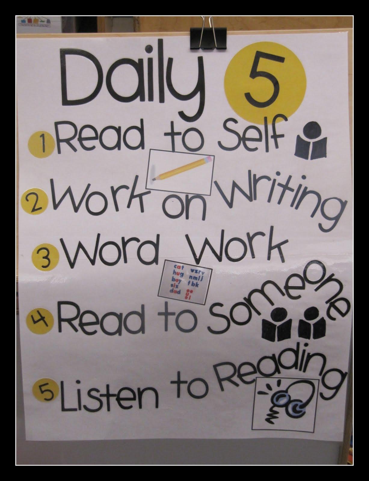 Kc Kindergarten Times Daily 5