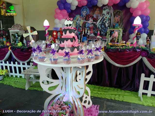 Mesa decorativa Monster High -  Decoração festa de aniversário
