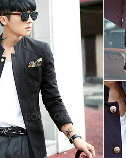 jas exclusive korean+style+ +black+blazer+jacket+%28sk 15%29