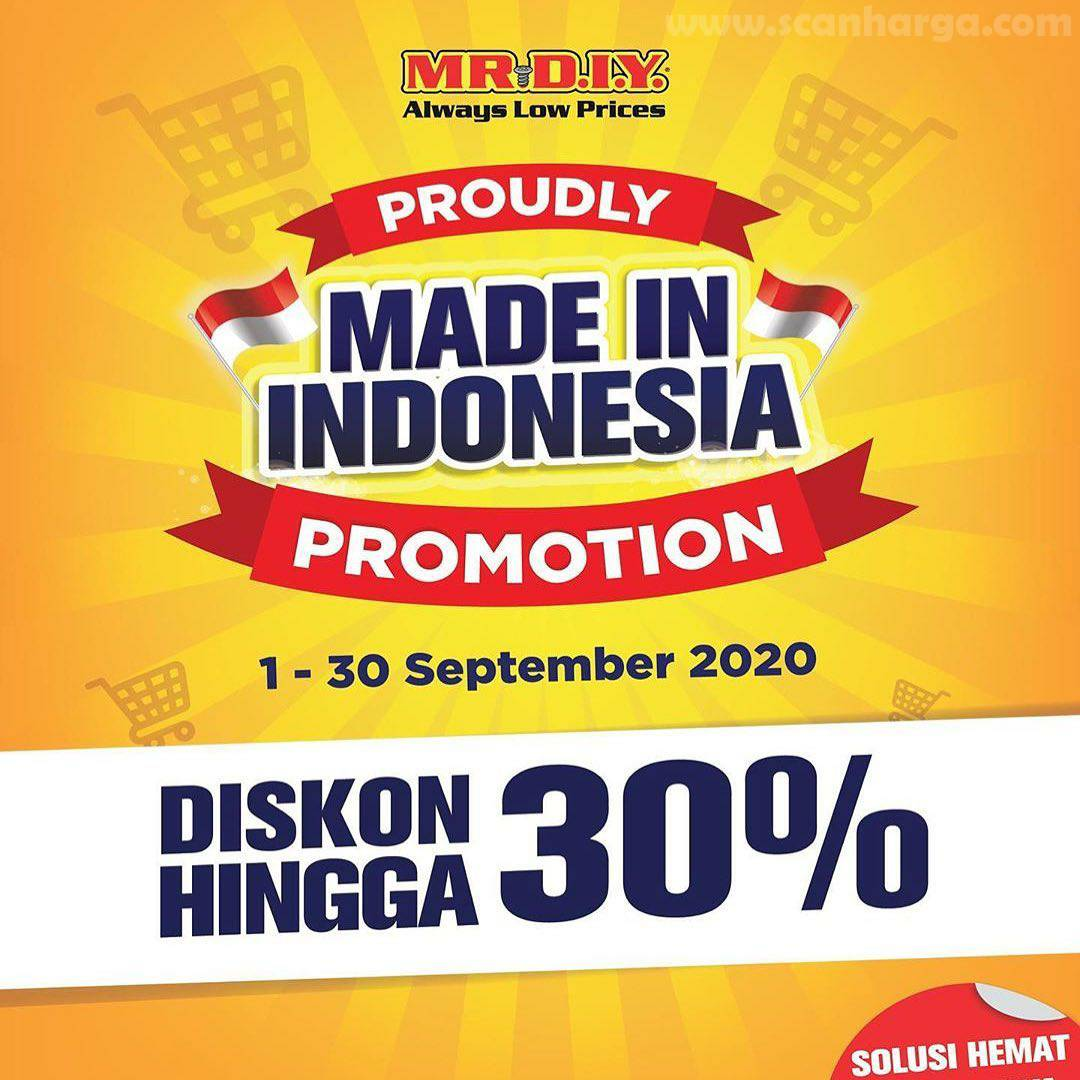 Promo Mr. DIY Terbaru Diskon hingga 30% Periode 1 - 30 September 2020