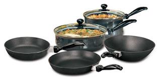 Hawkins Futura Non-Stick Cookware 7-Pieces Black