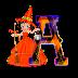 Letras animadas bruja Betty Boop halloween