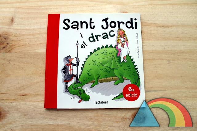 Portada del cuento Sant Jordi i el drac de la Editorial La Galera