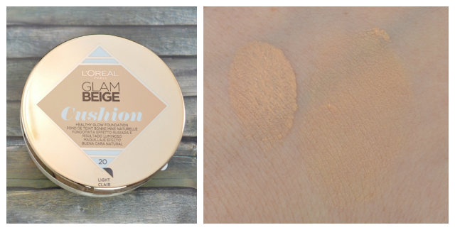 L'oréal Glam Beige Cushion healthy glow Foundation und Swatch