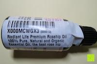 natürlich und Bio: Radiant Life hochwertiges Hagebuttenöl 100% reines, natürliches und biologisches Öl, das beste Hagebuttenkernöl für Gesicht, Haut und Narben