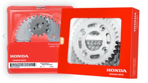 Honda Drive Chain Kit asli Honda Genuine Parts yang asli, Kualitas Pasti Terujui.
