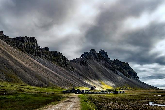 The Vikings village at Vestrahorn Iceland