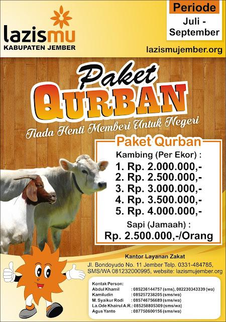 Paket Hewan Qurban Lazismu Jember 1437 H