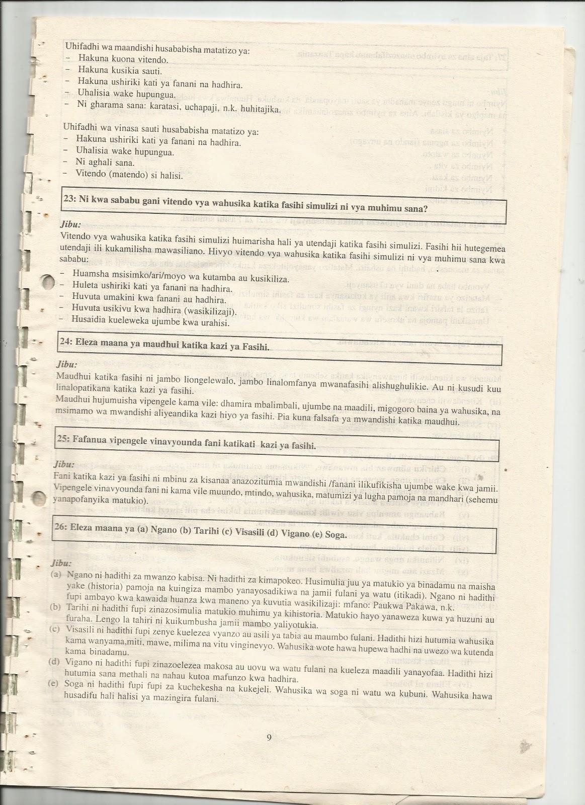 Fasihi simulizi ya kiswahili pdf995