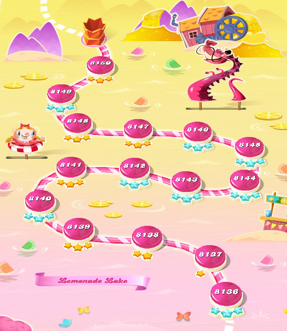 Candy Crush Saga level 8136-8150