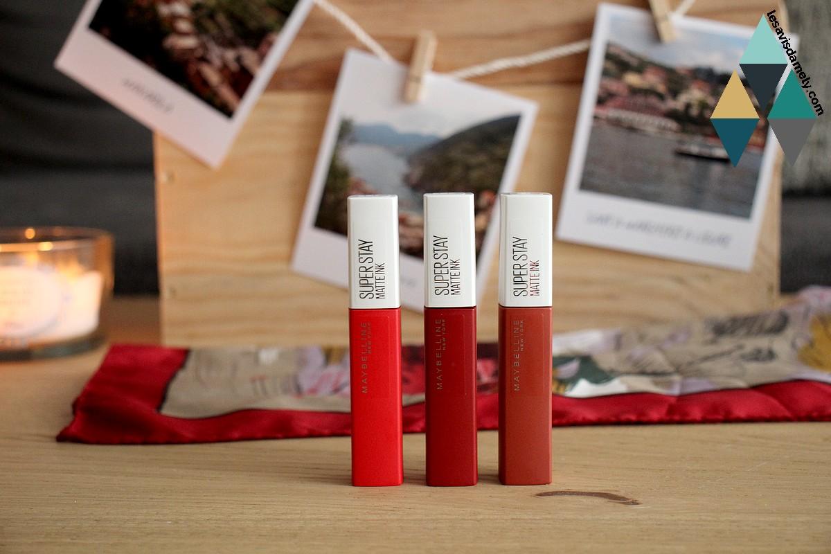 avis et test rouge à lèvres liquide mat Superstay Maybelline swatch