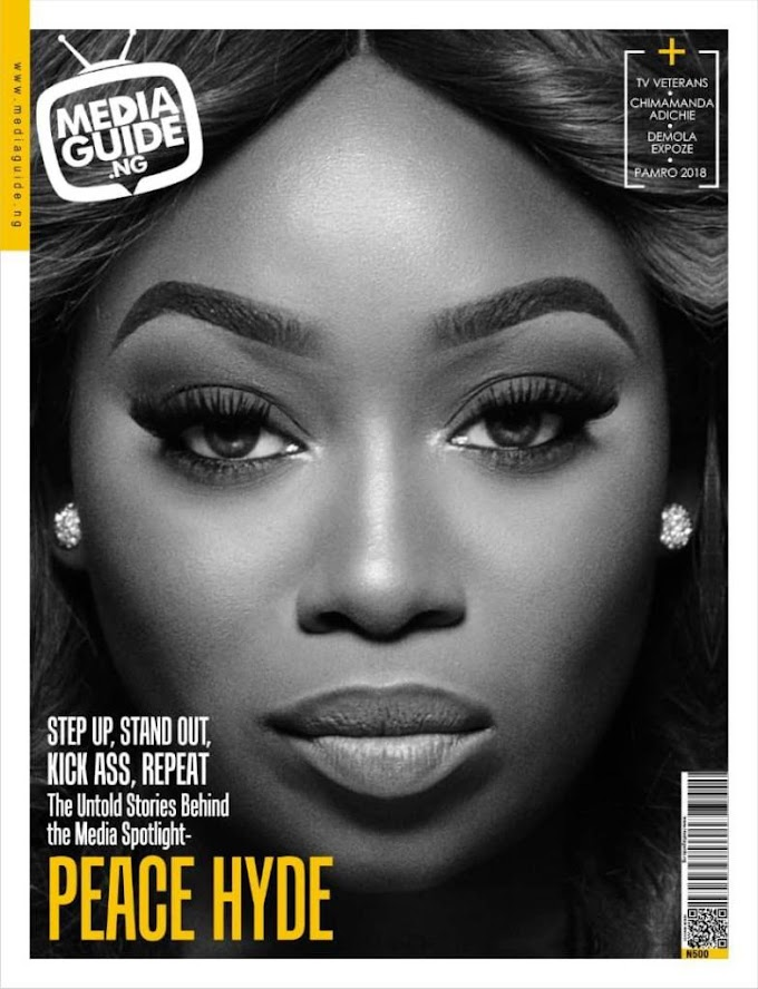 Peace Hyde featured on cover of Media Guide Magazine