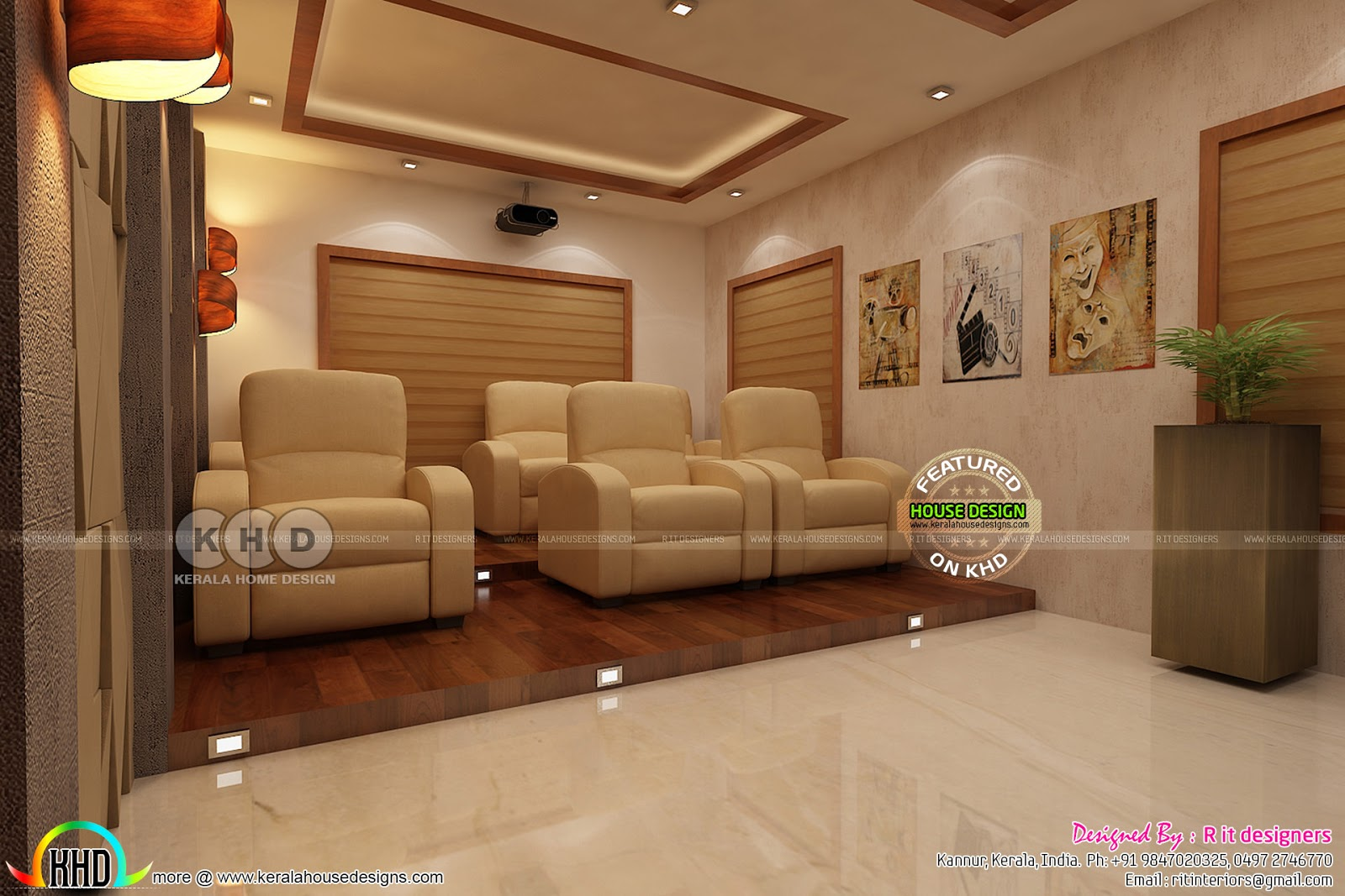 Kerala Home Theater Interior Set Up Kerala Home Design