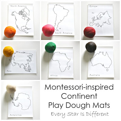 Continent Play Dough Mats