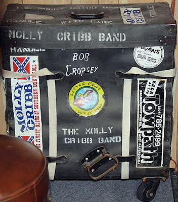 Molly Cribb band trap case belonging to Bob Cropsey