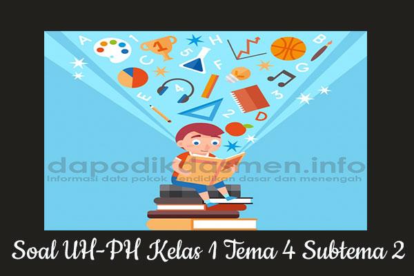 Soal UH PH Kelas 1 Tema 4 Subtema 2 Kurikulum 2013