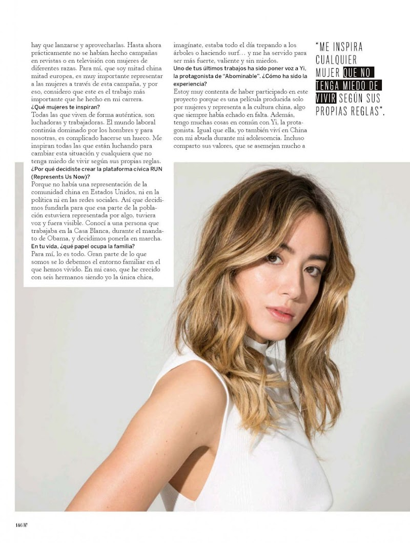 Chloe Bennet Featured in Woman Madame Figaro -April 2020