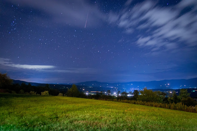 September 2021 photo by Corey Templeton. Stargazing in Stowe, Vermont this week.