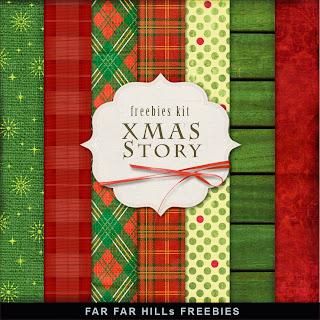 Freebies Kit of Background - Xmas Story