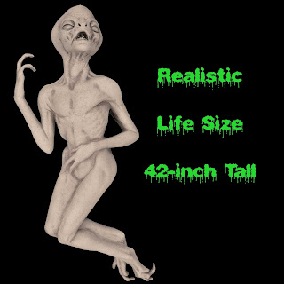 Life Size Latex ALIEN DEATH PROP Xfiles Haunted House Decoration
