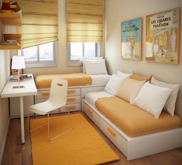 غرف اطفال, غرف صغيرة المساحة, افكار لغرف الاطفال, تزيين وترتيب غرفة الاطفال, تقسيم غرفة لطفلين