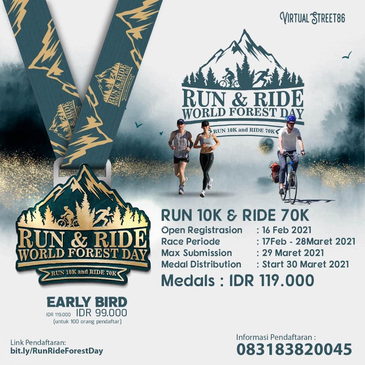 Virtual Run & Ride - World Forest Day • 2021