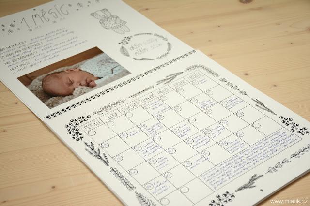 NAHÁČEK NA HÁČEK - kalendář pro první rok miminka