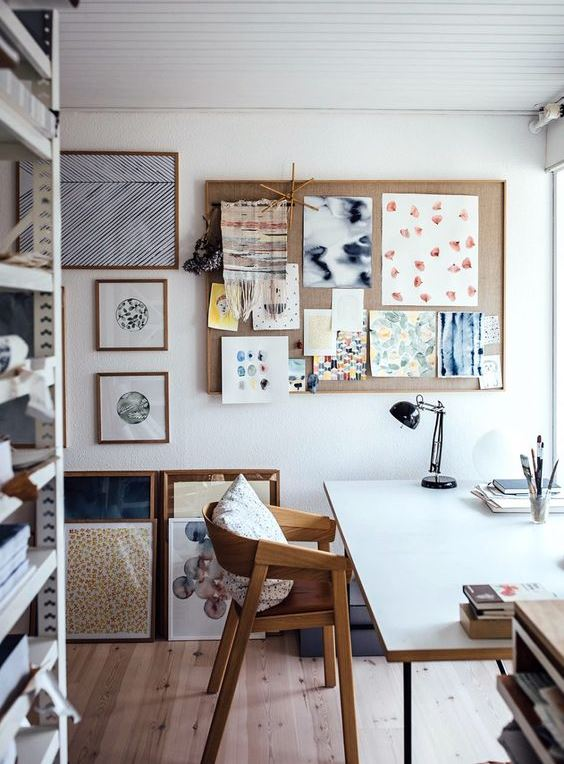 cool home art studio design idea