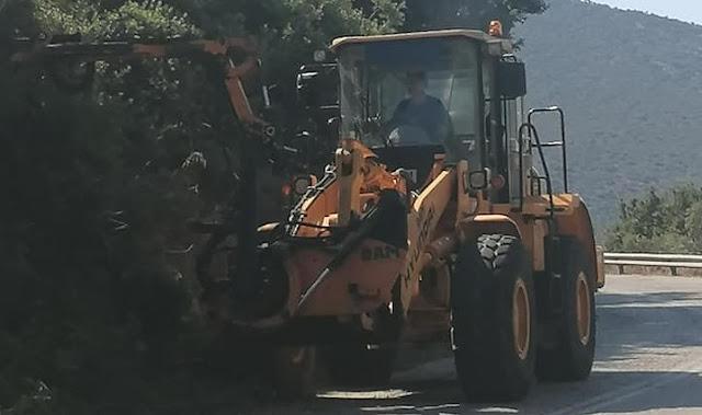 Εκτεταμένες παρεμβάσεις καθαρισμού της Π.Ε Αργολίδας στο οδικό δίκτυο