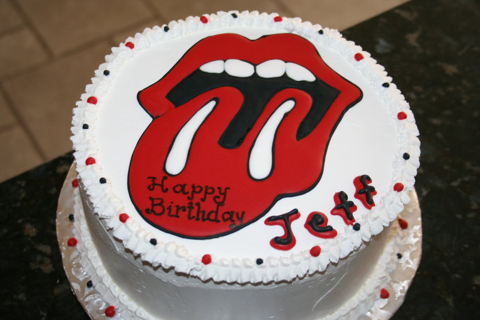 CAKES AND MORE: Baby Shower, Rolling Stones And Birthday Cakes