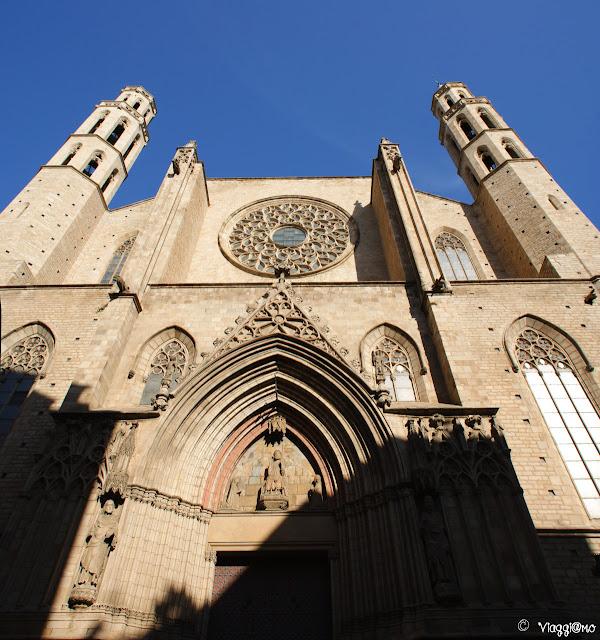 La cattedrale del Mare nel quartiere della Ribera
