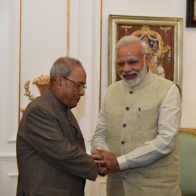 Pranab Mukherjee Narendra Modi