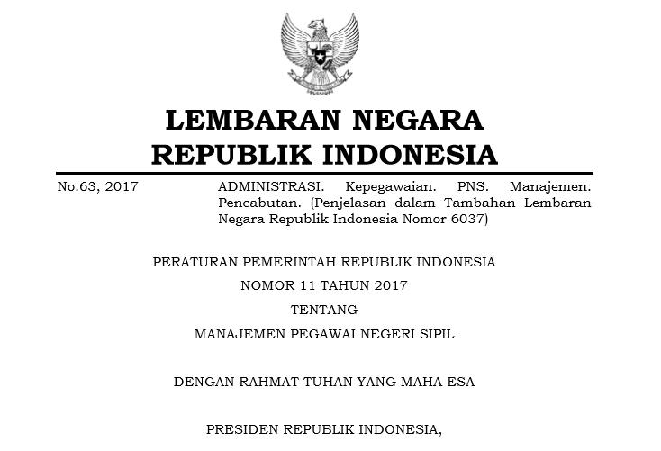 Persyaratan CPNS 2017 berdasar PP No 11 Tahun 2017