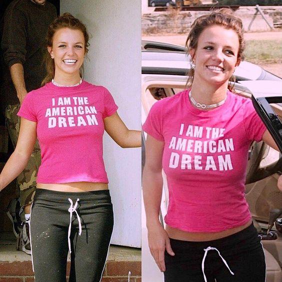 Britney Spears 'I AM THE AMERICAN DREAM' tee.  PYGear.com
