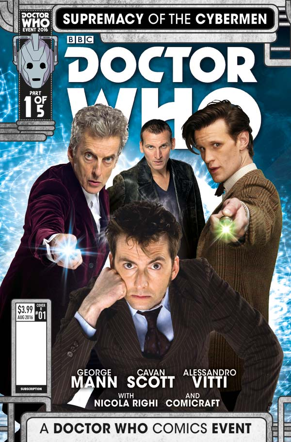 Titan Comics Summer Doctor Who Four Doctors Crossover Celebrates Cybermen Anniversary