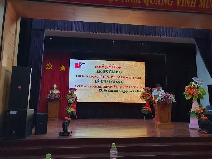 Khai giảng lớp thừa phát lại K5- TP. Hồ Chí Minh