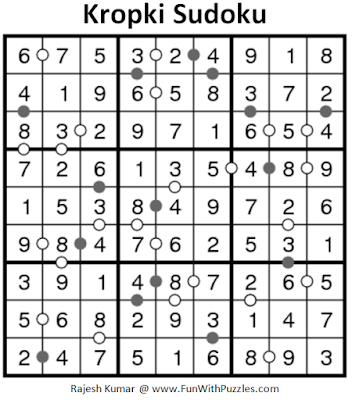 Kropki Sudoku (Fun With Sudoku #176) Solution