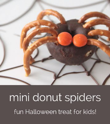 Easy Peasy Mini Doughnut Spiders
