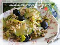 Salade de courgette au kasha (sarrasin grillé)
